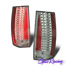 [LED] For 2007-2011 Cadillac Escalade Chrome Clear Lens Tail Lights Pair