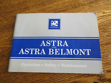 Original 1980s Vauxhall Astra & Astra Belmont owner's manual