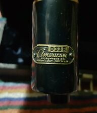 Vintage American Microphone Co. D33B Microphone Audio Boardcast Recording ELGIN