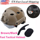 Sports Military Tactical Airsoft Paintball SWAT Protective Fast Helmet W/ Goggle