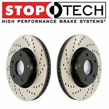 Jaguar S-Type Lincoln LS Thunderbird Front Drilled Brake Rotors Set StopTech