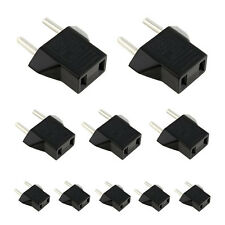 10PCS US /AU to EU Euro Europe AC Power Plug Converter Travel Adapter Chargers