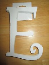 "White ""E"" Wooden Wedding Party Home Decor Nursery Alphabet Letter - NEW"