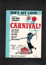 She's My Love 1961 Carnival Anna Maria Alberghetti Sheet Music