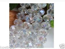 8mm White Multicolor  Crystal Bead 72 PCS