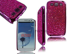 NEW DIAMOND CHROME SIDE PHONE BLING BACK CASE COVER FOR SAMSUNG GALAXY S3 I9300