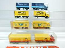AT274-0,5# 4x Wiking H0 Lastzug MB: 455 Holert+459 Zapf/Baur+571 Kühne, s.g.+OVP