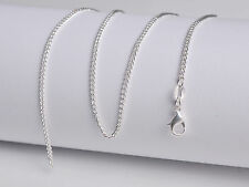 1PCS Wholesale 26inch Fashion Jewelry Lot 60% Silver Flat Curb Chain Necklaces