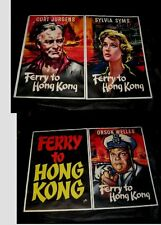 4 Original FERRY TO HONG KONG UK Double Crown Posters LINENBACKED Bysouth Art