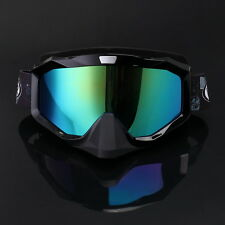 Motorcycle Goggles Glasses Helmet Dirt Bike Riding Racing Off Road Colored Lens