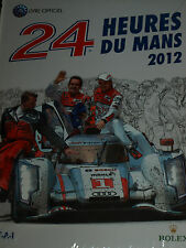 LE HEURES DU MANS 24 HOURS OFFICIAL YEARBOOK ACO 2012 NEW SEALED AUDI R18 HOURS