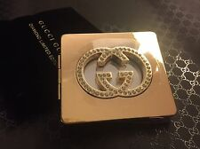 Gucci Compact Mirror With Crystals. 100% Authentic