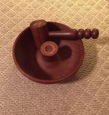 """Vintage Turned Carved Wooden Nut Bowl Mallet Set 8"""""""