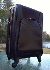 Ghurka PONTOON IV No. 256 Walnut Leather Spinner suitcase MSRP $1,995.00