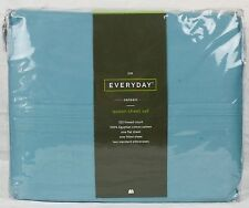 JCPenney JCP Everyday Queen Sheet Set - Marine Blue 325 TC 100% Egyptian Cotton