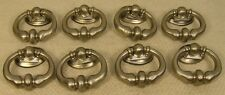 8 Vintage Style Satin Nickel Handles Drop Pulls Cabinet Furniture Hardware '