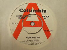 45-DB 4733 Donald Peers- Where Were You / Just Out Of Reach - Demo