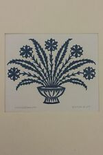 Blumen , Linolschnitt - signiert Anton Kist