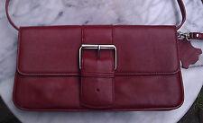 GIANI BERNINI RED LEATHER CLUTCH  BAG -NWOT-$12.99