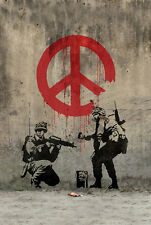 Poster for new Banksy Street Art Canvas Silk Fabric Cloth 20x13 Decor 01