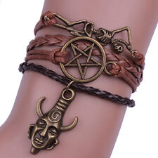 Supernatural Deans Protection Amulet Charm Woven Bracelet Cosplay Accessories