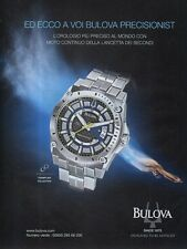SP92 Pubblicità Advertising 2011 Bulova Precisionist