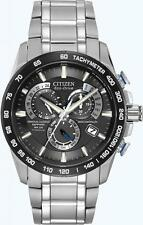 BRAND NEW CITIZEN ECO-DRIVE AT PERPETUAL CHRONO ATOMIC TITANIUM BLACK AT4010-50E