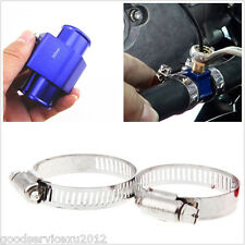 32mm Blue Metal Car SUV Water Temp Joint Pipe Sensor Gauge Radiator Hose Adapter