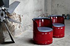 Sessel aus 200l Neu Fass Ölfass Fässer  Farben nach Wahl - Pulverbeschichtet
