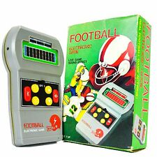 Vintage Electronic Football Video Game Handheld Gray Sound Pocket Battery