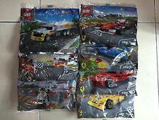 SHELL LEGO FERRARI COMPLETE FULL SET (7PCS)  2015 / LIMITED / RARE / NEW