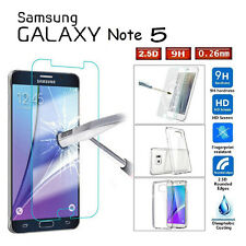 For Samsung Galaxy Note 5 Full Protect Tempered Glass Screen Cover & TPU Case