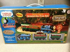 Snow Thomas Battery Powered Around The Tree Set Musical Present Car Wooden Train