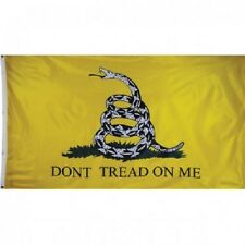 3x5 Gadsden Tea Party Rattlesnake Dont Tread on me Flag (Double Sided 2ply)