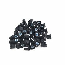 6mm Shaft Insert Dia Threaded Knurled Potentiometer Control Knobs 50PCS