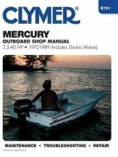 1972 1989 Mercury 2/4-stroke 3.5-40 HP Outboard Clymer Repair Manual B721