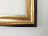 Scooped Gold Picture frame photo frame poster frame Different Sizes Available