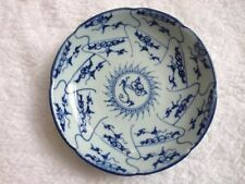 Plate Blue and White Porcelain Pattern Antique Exquiste Chinese