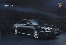 Rover 75 Saloon 2001-02 UK Brochure 1.8 2.0 2.5 CDT Classic Club Connoisseur SE