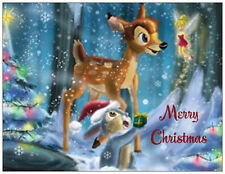20 CHRISTMAS Bambi THUMPER Tinkerbell DISNEY Greeting Flat CARDS Envelopes Seals