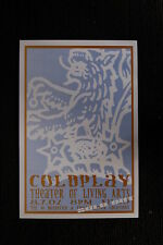 Cold  Play Tour Poster Theater of the living Arts