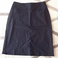 Cue Black Business Knee Length Pencil Skirt Size 6