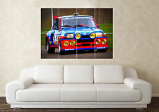 Large Renault 5 GT Turbo Race Car Raider Rally WRC Wall Poster Art Picture Print