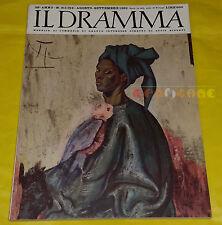 IL DRAMMA 1962 n. 311-312 - Copertina Carlo Guarienti - Opere: vedi inserzione