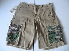 DENIM & SUPPLY RALPH LAUREN Men's Tan Flag-Pocket Cargo Shorts Sz 34