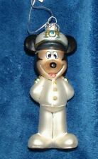 Disney Cruise Line Captain Mickey Mouse Blown Glass Christmas Ornament