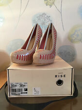 ALDO RISE CREGGER Ladies Pink Leather Heels UK 4 EU 37 RRP £125 ONLY £25 NEW