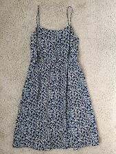 $145 New J.CREW SUNDRESS IN BLUE FLORAL SIZE 10 OXBOW BLUE A9347