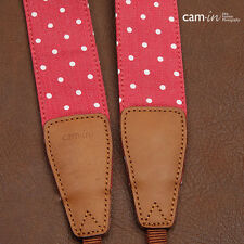 Red denim pois réglable cam-in dslr caméra sangle CAM7114 uk stock
