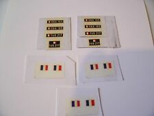 TRANSFERTS/DECALCOMANIES/  DINKY TOYS   MILITAIRES FRANCAIS